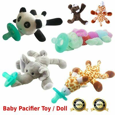 Baby Pacifier Silicone Pacifiers With Plush Toy Giraffe Nipple Soother Cute WW