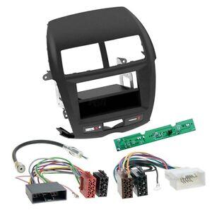 MITSUBISHI-ASX-10-14-1-din-Radio-Coche-Set-montaje-CABLE-Adaptador-marco-de