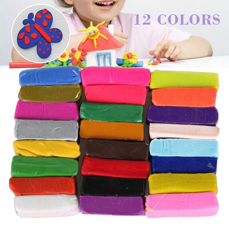 32 Mixed Color Set Oven Bake Polymer Soft Clay Modelling Mou