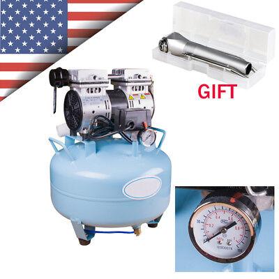 Dental 32l Silent Noiseless Oil Free Oilless Air Compressor Motor Triple Syringe