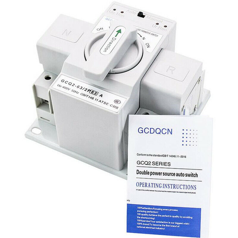 2P 63A 230V CB Type Electrical Dual Power Automatic Transfer Switch ATS