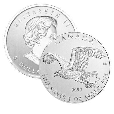 2014 Royal Canadian Mint Birds of Prey Series Bald Eagle 1 oz Silver Coin