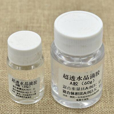 2pcs Ultra Clear Crystal Epoxy Ab Glue Transparent Epoxy Quick Drying Sealants