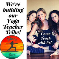 Yoga instructors wanted