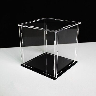 Clear Acrylic Display Box Dustproof Action Figure Display Case Cube