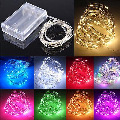 20-100 LED 2-10M String Kupfer Draht Fairy Lights Batterie betrieben Wasserdicht