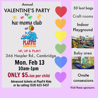 Annual Valentine's Day Party by KW Moms Club at PlayFit Kids