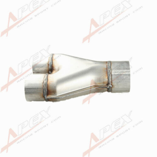 Universal Custom Exhaust Y-Pipe Inlet Outlet Aluminized Steel