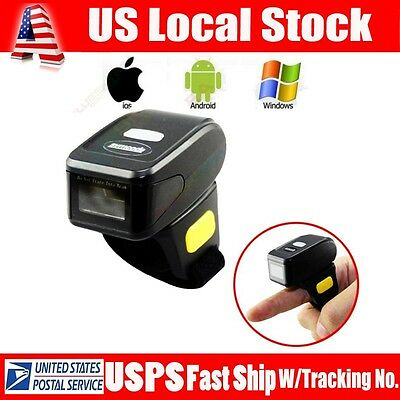 Mini Handheld Btooth Ring Finger Barcode Scanner Reader For Androidapple Ios