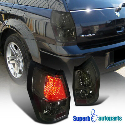 For 2005-2008 Dodge Magnum Replacement LED Tail Lights Brake Lamps Smoke Pair