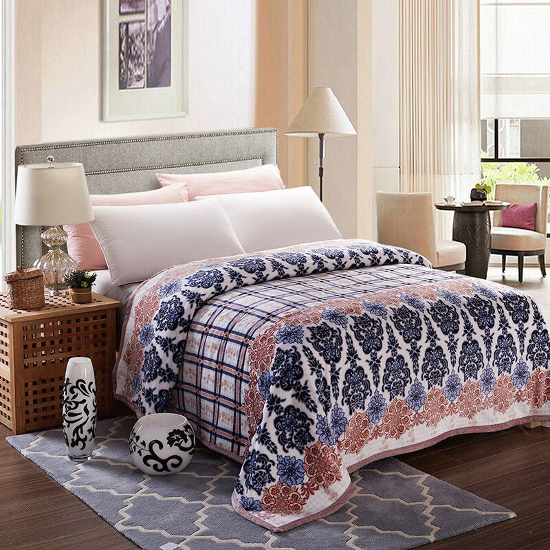 flannel blanket soft throws bed cover sheet full queen king