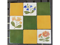 Colourful H & R Johnson ceramic cristal tiles with free adhesive