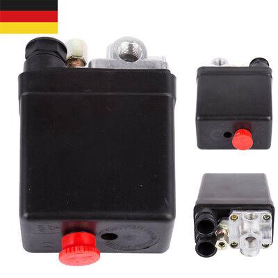 """Druckschalter für Güde Kompressor Druckregler 230V 1/4"""" Kompressorschalter 4Port"""