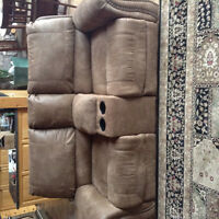 Recliner couch and chair set