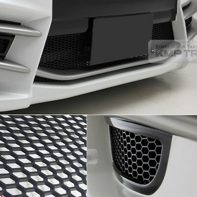 "Used, 5_Black Honeycomb Hexagon Mesh ABS Grille Fog Custom Kit 43""x15"" for AUDI for sale  Shipping to United States"