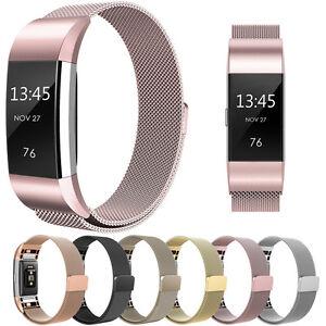 Milanese-Loop-Metal-Magnetico-Malla-Correa-Correa-Brazalete-Para-Fitbit-Charge-2
