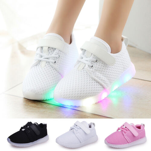 Summer LED Children Boys Girls Light Up Sneakers Baby Luminous Shoes Trainers