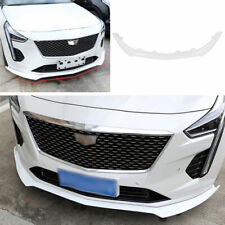 For Cadillac CT6 2019-2020 ABS White Car Front Bumper Lip ...