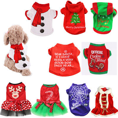 Pet Clothes Santa Christmas Gifts Dog Cat Jacket Winter Coat Shirt Puppy Apparel ()