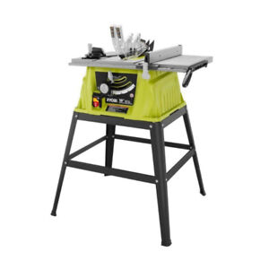 LIKE NEW Ryobi 10 Inch 15 Amp Table Saw WITH STAND
