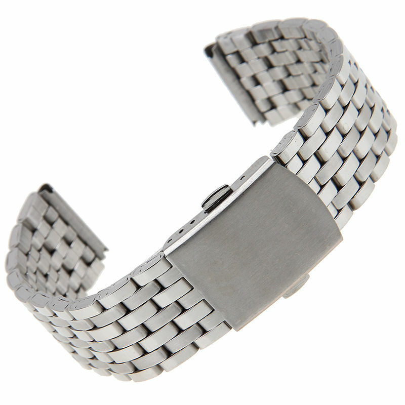 18/20/22mm Stainless Steel Straight End Watch Band Hollow Cu