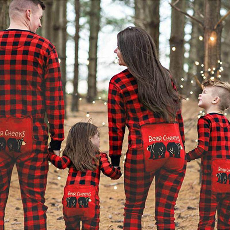 Familie Partnerlook Weihnachten Overall Jumpsuit Nachtwäsche Schlafanzug Pyjamas