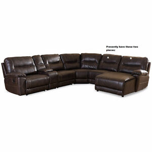 Two piece Leather sofa