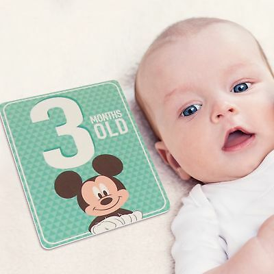 Disney Mickey Mouse Milestone Photo Sharing Cards Gift Set  Baby Boys  Age 0 12M