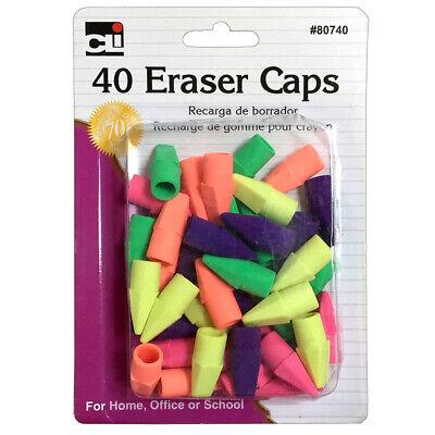 Pencil Eraser - Caps - Assorted Colors - 40cd