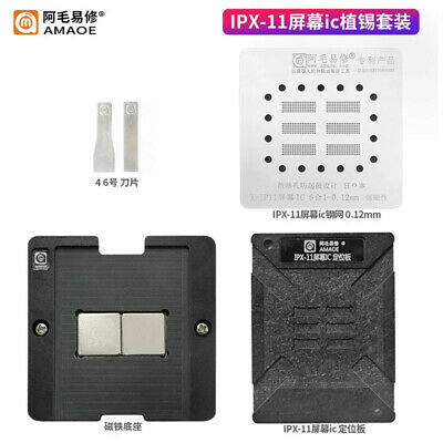 Amaoe Bga Stencil For Iphone X-11 Screen Touch Ic Magnetic Reballing Kit Platfor