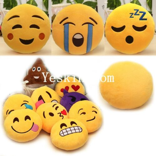 6 Inch Lovely Emoji Smiley Emoticon Soft Stuffed Plush Round Toy Pillow