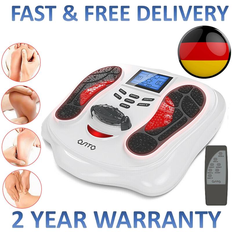 Fußmassagegerät Fußmassage Fußreflexzonen-Massagegerät mit Waden Infrarotwärme