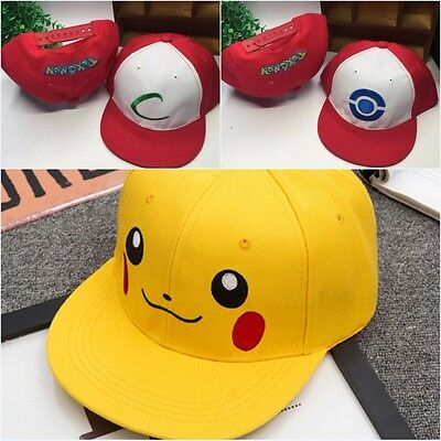 Anime Pokemon ASH KETCHUM Costume Cosplay Hat Pocket Monster Cap For Kids Gifts