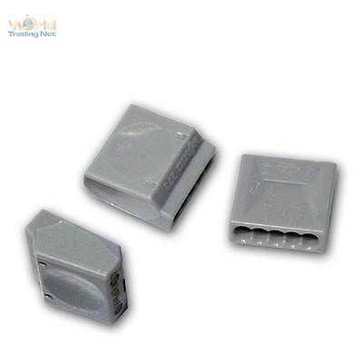 10x WAGOKlemmen für 5x1,5 mm² Dosenklemmen grau Klemmen