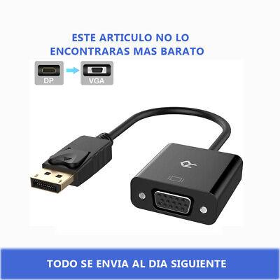 1080P Adaptador DisplayPort DP Macho a VGA Hembra Convertidor Cable para HDTV
