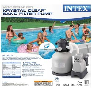 "Intex Sand Filter Pump  16"" and Krystal Clear Salt water combo"