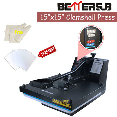 15x15 Clamshell Heat Press Machine Digital Sublimation Heat Transfer Paper Us