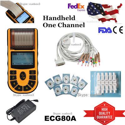 Contec Ecg80a Portable Hand-held Single Channel Ekg Ecg Machine Pc Softwareusa