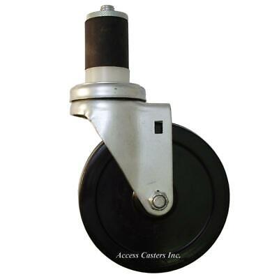 5exsrs 5 Expansion Stem Swivel Caster With Soft Rubber Wheel 175 Lb. Capacity