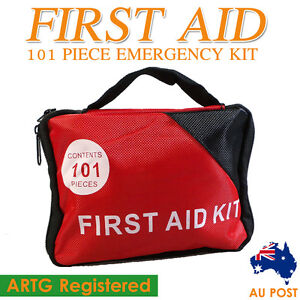 101 PCs Premium First Aid Kit- A Must Have For Every Family Car Office Camping