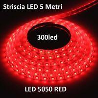 Striscia Led 5mt. 300led 5050 Red Rossa -  - ebay.it