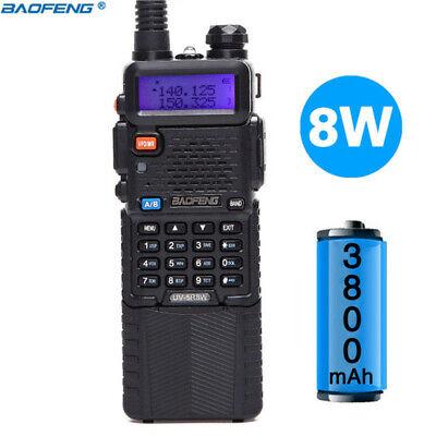 BaoFeng UV-5R Tri-Power 8W/4W/1W High Power 3800mAh Two Way Radio Walkie Talkie