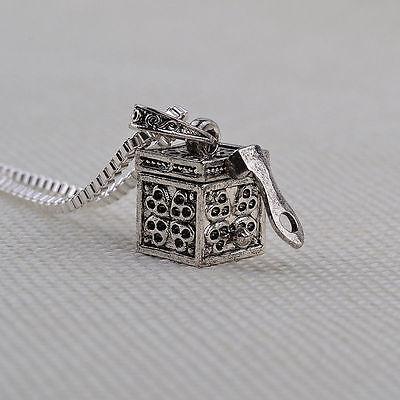 Pet Pendant Necklace  21 inch Ash Fur Holder Mini Keepsake Dog Urn Cremation