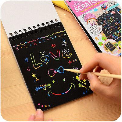 Fashion Notebook Black Cardboard Creative DIY Draw Kid Notebook School Supplies