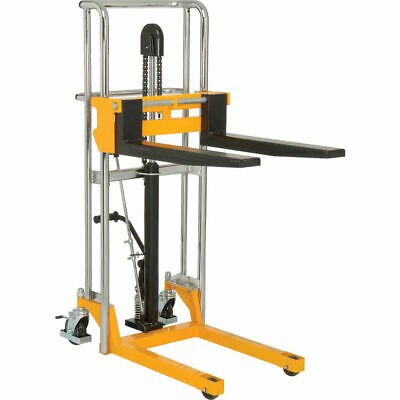 Industrial Manual Lift Stacker 880 Lb. Capacity 47 Lift Heavy Duty Workload
