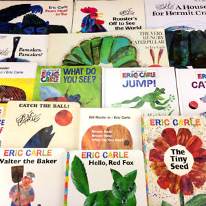 Lot 17 Eric Carle Board & Picture Story Books Children Classroom