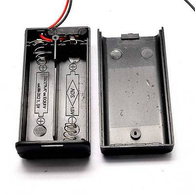 2pcs 2aa 3v Battery Holder Box Case With Coverswitchwire 2xaa 2x1.5v