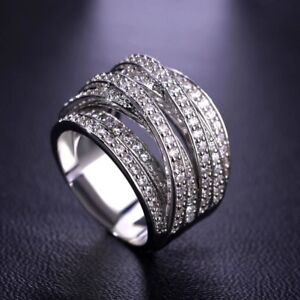 Brand new multilayer silver ring - size 10