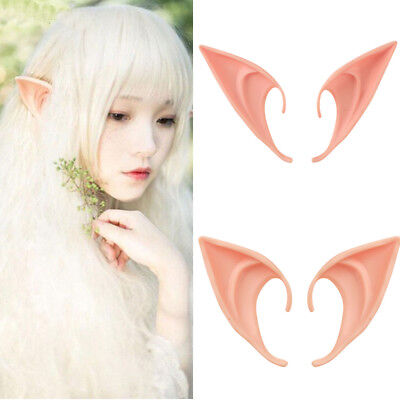 Halloween Party Latex Prosthetic Elf Fairy Hobbit Vulcan Spock Costume Tip Ears (Elf Ear)