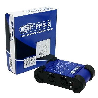 Elite Core Dual Phantom Power +48V or +12V  XLR Microphone Supply Unit PPS-2